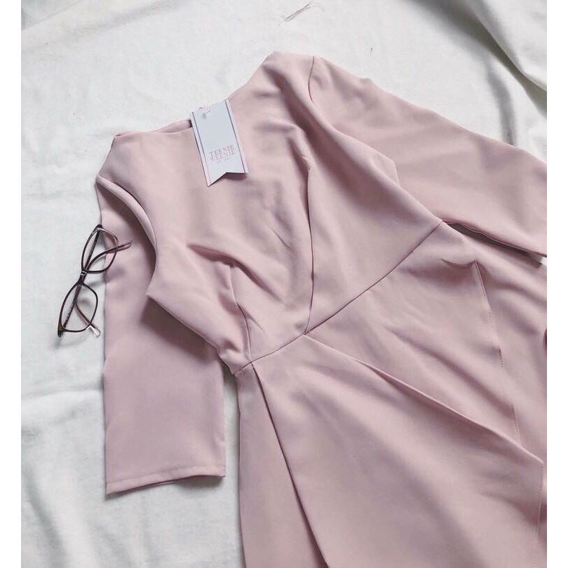 Mặc gì đẹp: Sang trọng với Đầm công sở thanh lịch, sang trọng Fetus Dress hàng mới về ảnh thật hai size M và L