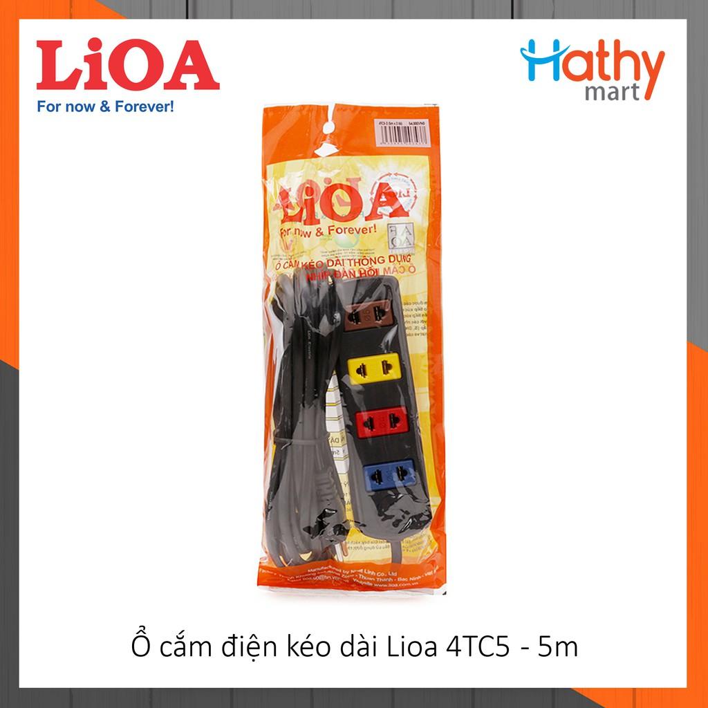 Ổ cắm điện kéo dài LiOA 4 ổ 5m 4TC5
