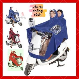 Áo mưa FREESHIP áo mưa đôi vải dù ép PVC chống nước chống rách có kính che mặt cao cấp thumbnail