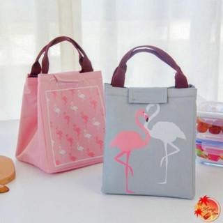 [MẪU MỚI] Túi đựng hộp cơm trưa chống thấm nước hình hồng hạc [MẪU MỚI 2020]