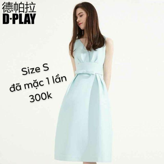 [Bui Ariel] Áo Dplay màu xanh size S