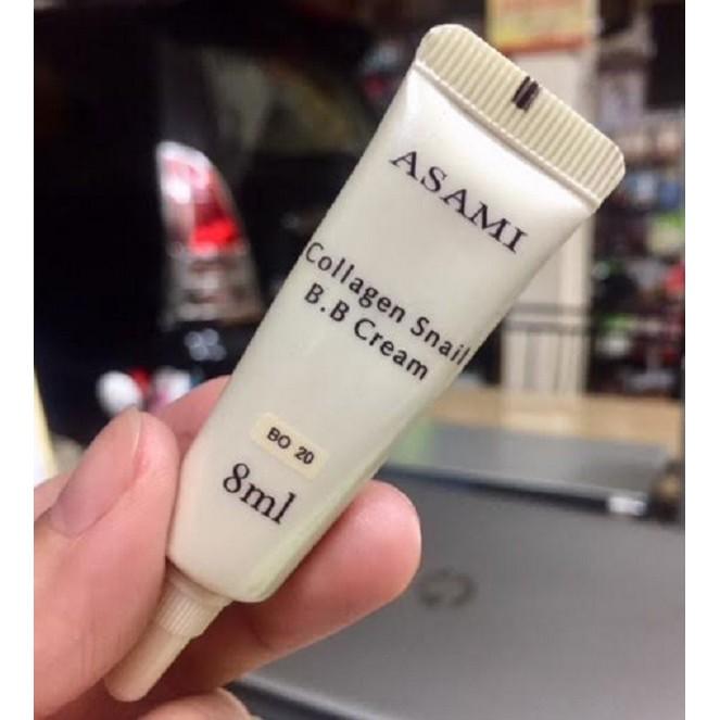 Sample mẫu thử Kem nền chiết xuất Collagen Snail BB Cream Asami 8ml