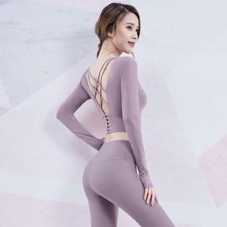 Áo Tập Yoga Dáng Ôm Hở Lưng Thời Trang Quyến Rũ Cho Nữ