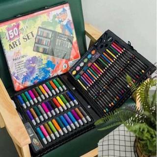 Hộp Màu Vẽ 150 Chi Tiết Dành Cho Các Bé Yêu Nghệ Thuật ,Một Bộ Gồm Sáp Khô , Bút Vẽ , Bút Chì ,Kéo , Keo Dán ,!!!!!!!!!!