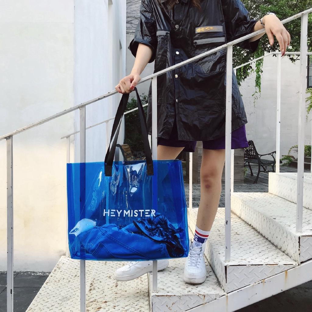 Túi xách đeo vai chất liệu bằng nhựa trong suốt cỡ lớn
