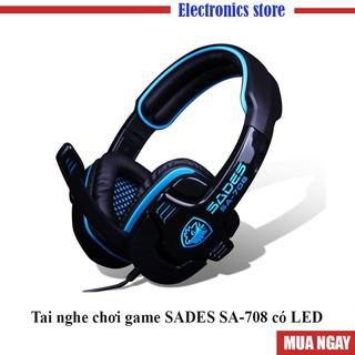 [HÀNG CHẤT LƯỢNG] Tai nghe SADES SA-708 loại có LED mầu Xanh