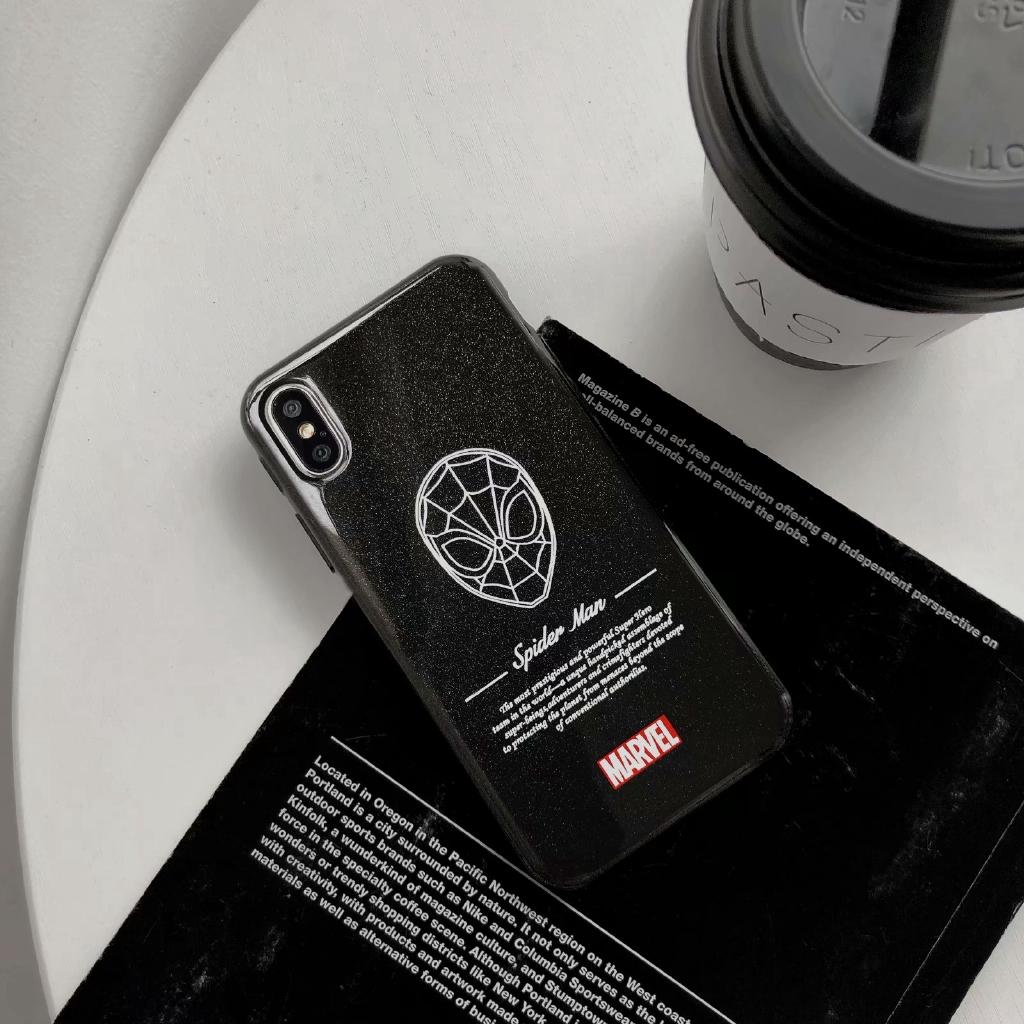 Ốp điện thoại TPU in hình Spiderman kèm chữ sáng tạo cho iPhone 6/6S 6/6SPlus 7/8 7/8Plus X/XS XR XS Max