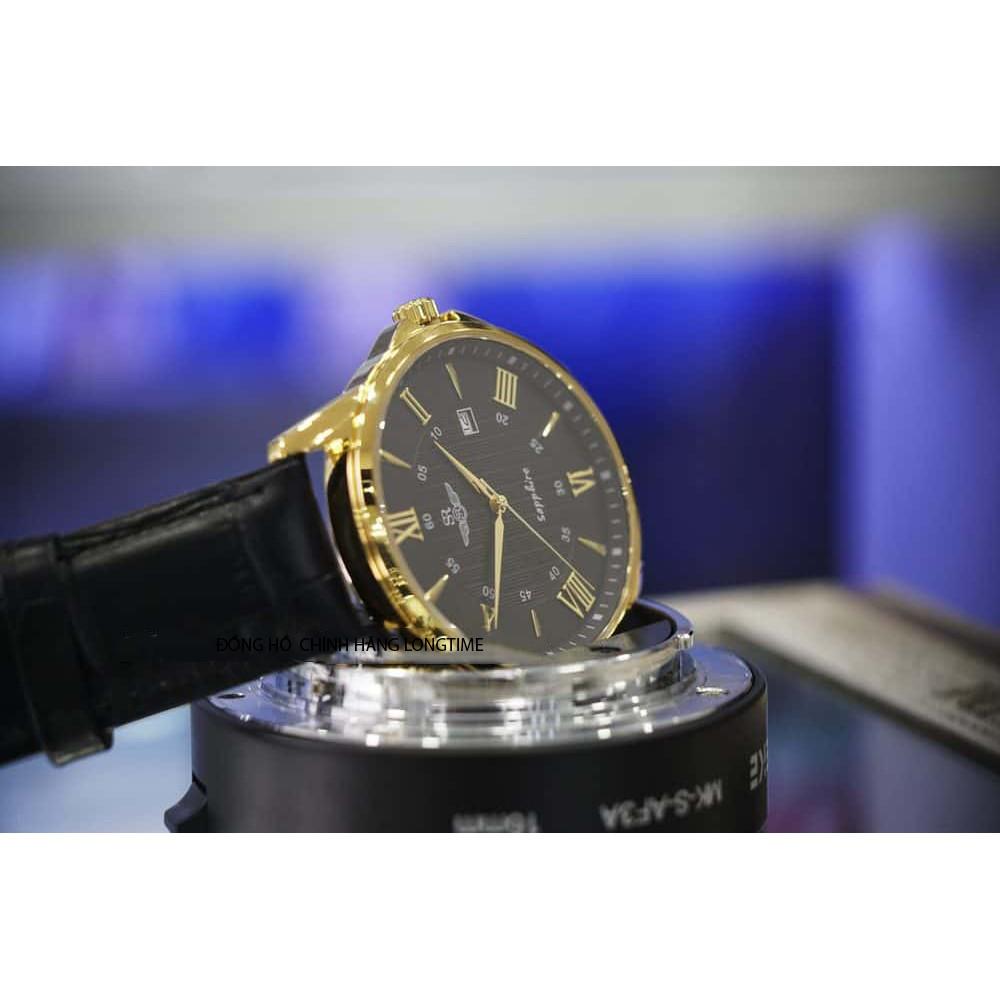 Đồng hồ nam nữ SRWATCH SG3003.4601CV và SL3003.4601CV mặt đen kính Sapphire Crystal