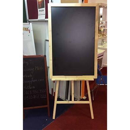 Bảng Menu đen khung gỗ 60*80 cm + Giá đỡ bảng (kèm quà tặng)