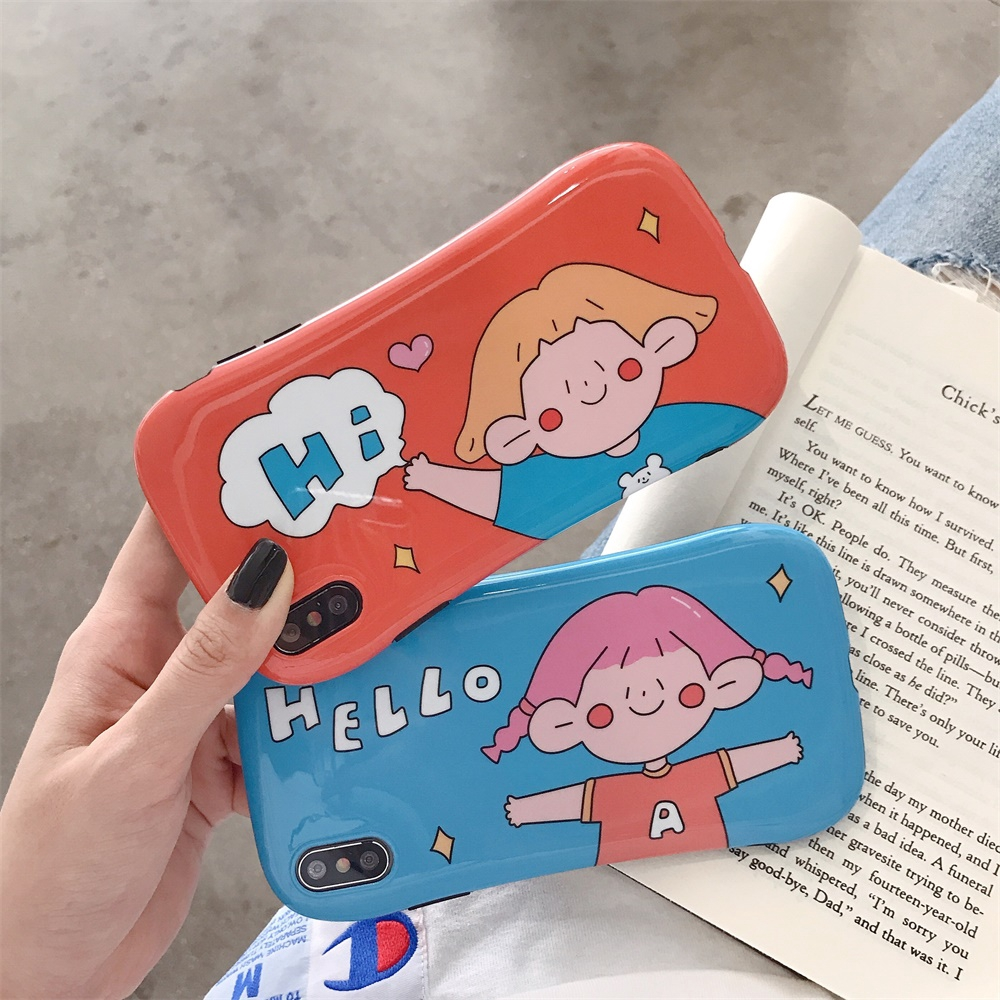 couple for iphone silicone anti-fall iphone 7/8 case cute back protection