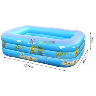Bể Bơi Cho Bé có Đáy Chống Chơn 210cm