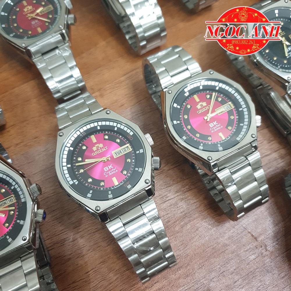 Đồng Hồ Nam Orient SK Mặt Lửa Huyền Thoại Vỏ Bạc Cao Cấp Automatic -  Máy Móc Nguyên Zin 100%