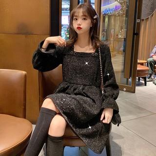 Đầm Dài Tay Kim Tuyến Cho Búp Bê