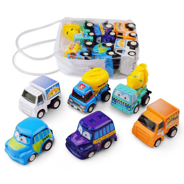 Baby toy car mini car 6 packs per bag