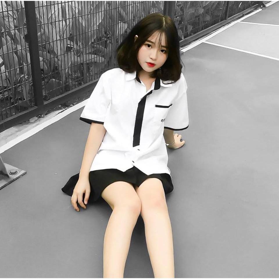 Áo Somi HÀN KOREAN VIỀN ĐEN UNISEX