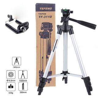 Yêu ThíchGiá đỡ 3 chân máy chụp ảnh Tripod TF-3110 + Miếng kẹp điện thoại