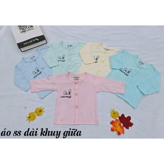 Combo 5,10 áo dài sơ sinh, áo dài tay cho bé vải thông hơi ( sỉ)