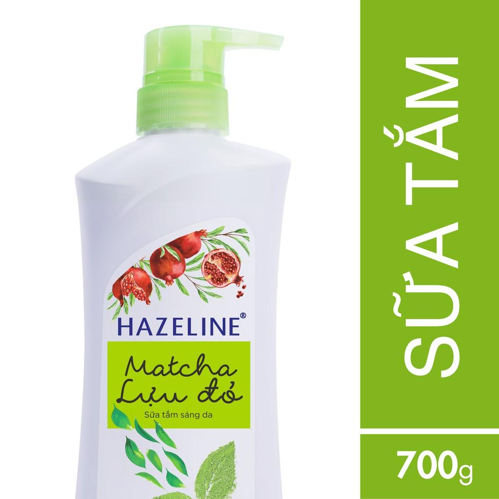 Sữa tắm dưỡng sáng da Hazeline Matcha - Lựu đỏ 700g (MSP 67146098)