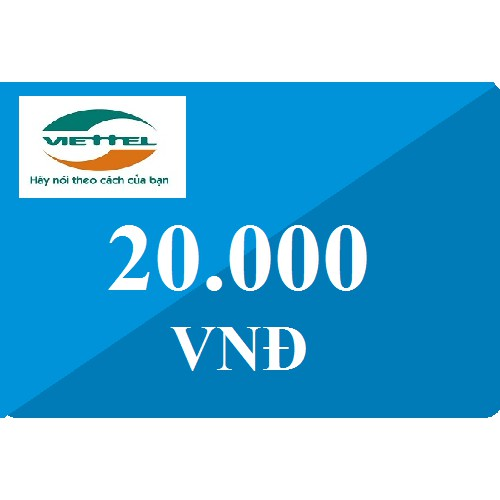Follow shop săn deal - Thẻ cào viettel 20k
