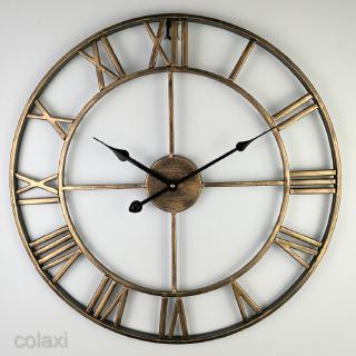 [COLAXI] Vintage Round Retro Time Big Display Clock Mechanism Wall Clock Quartz 16x2inch