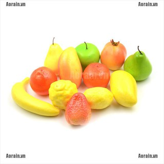 MT 12Pcs Lifelike Artificial Plastic Fruit Vegetables Kitchen Home Display Decor NY