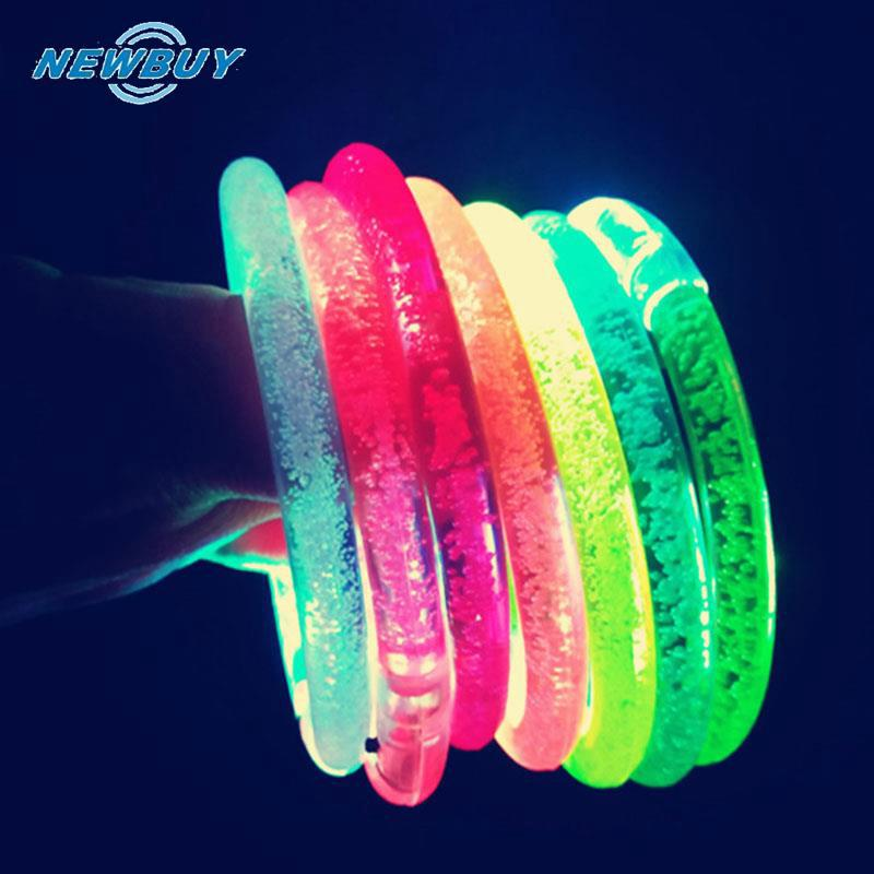 LED Acrylic Glow Blinking Flashing Party Club Bracelet Wristband Toy Gifts