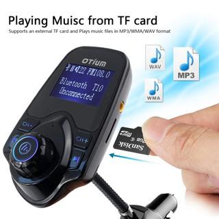 MÁY NGHE NHẠC MP3, FM KHÔNG DÂY BLUETOOTH TRÊN Ô TÔ ĐIỆN 12V BẰNG TẨU SẠC T10 - T10 CAR WIRELESS MP3 thumbnail