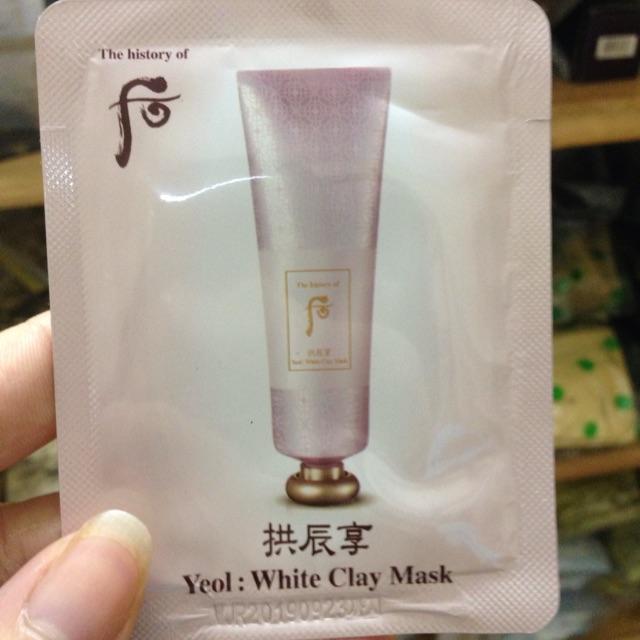 10 Mặt nạ đất sét trắng da Yeol White Clay Mask Whoo