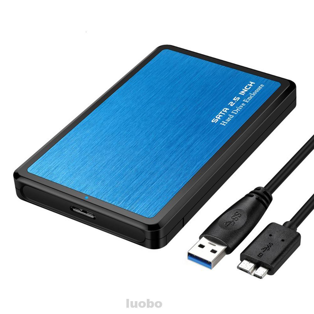 Aluminum Alloy SSD Support 2.5 SATA Shock Proof Hard Drive Enclosure