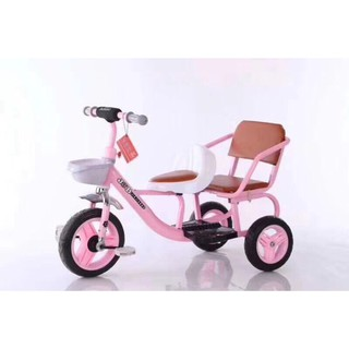 xe đạp 3 bánh ghế đôi ghế da cho bé