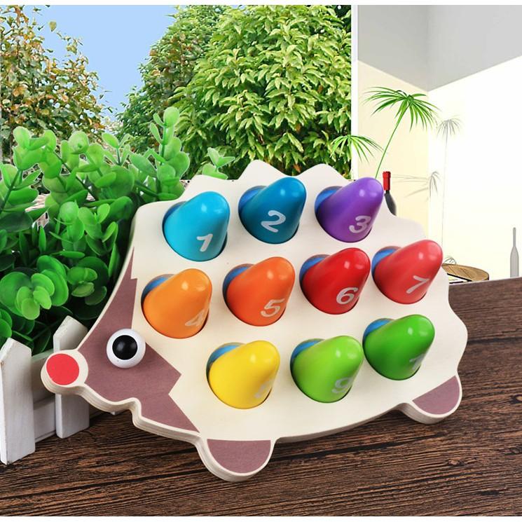 Nhím học số đếm, đồ chơi trí tuệ montessori