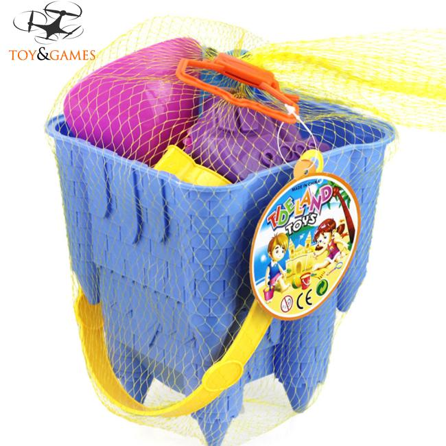 8Pcs Kids Simulate Castle Shape Bucket Spade Shovel Water Tools Sand Beach Toys Random Style