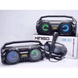Loa Bluetooth KIMISO KM-S1 - Tặng kèm Mic hát Karaoke - Lỗi đổi mới trong 10 ngày [Bảo Hành 2 Năm] thumbnail