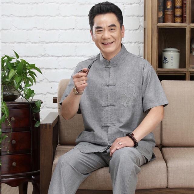 Bộ trung niên nam 100% cotton vải xịn