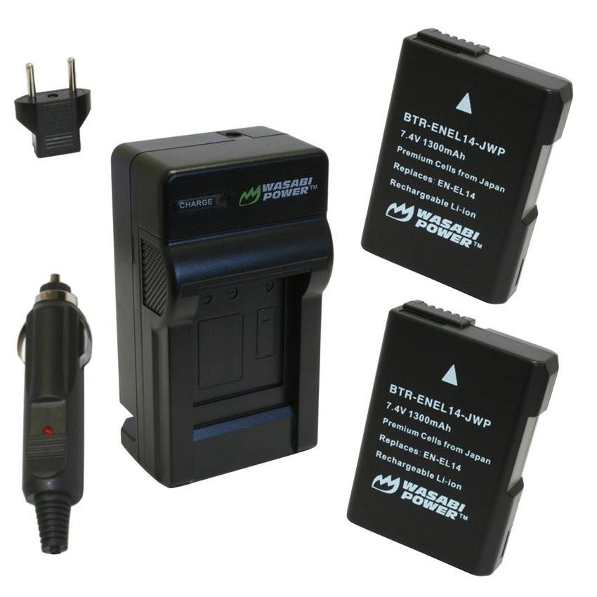 Bộ 2 viên pin và sạc WASABI EN-EL14 cho Nikon D3200 D5300 D5500P7800 (Đen) - 13630854 , 615328579 , 322_615328579 , 1200000 , Bo-2-vien-pin-va-sac-WASABI-EN-EL14-cho-Nikon-D3200-D5300-D5500P7800-Den-322_615328579 , shopee.vn , Bộ 2 viên pin và sạc WASABI EN-EL14 cho Nikon D3200 D5300 D5500P7800 (Đen)