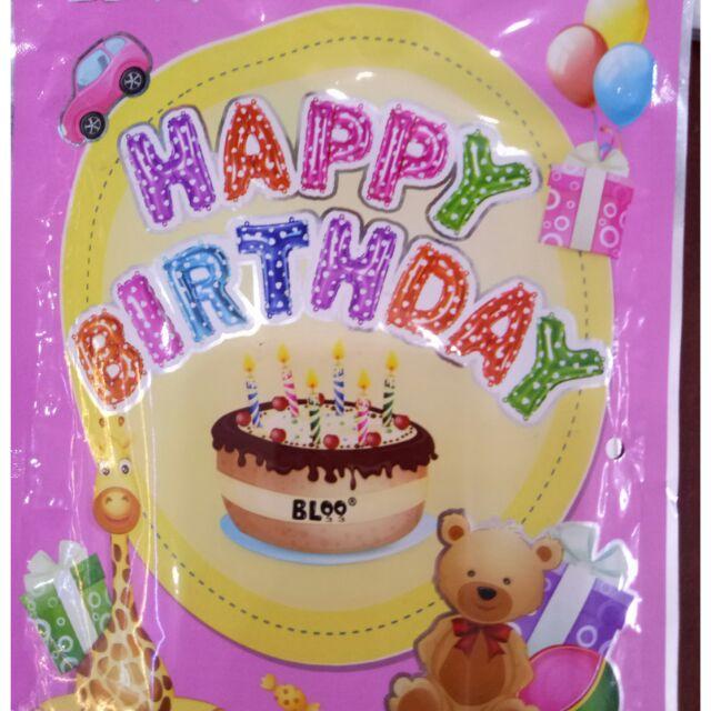 Sét chữ Happybirthday - 14694774 , 950233687 , 322_950233687 , 40000 , Set-chu-Happybirthday-322_950233687 , shopee.vn , Sét chữ Happybirthday