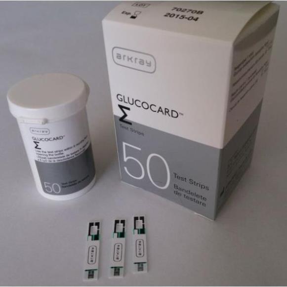 Hộp 50 que thử đường huyết ARKRAY GLUCOCARD - Hàng nhập khẩu Nhật Bản chính hãng