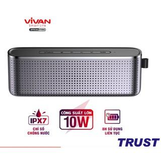 Loa Bluetooth 5.0 Super Bass VIVAN VS10 Chống Nước IPX7 Công suất 10W Pin 1800mAh Playtime 8H Hỗ Trợ Thẻ Micro SD & AUX