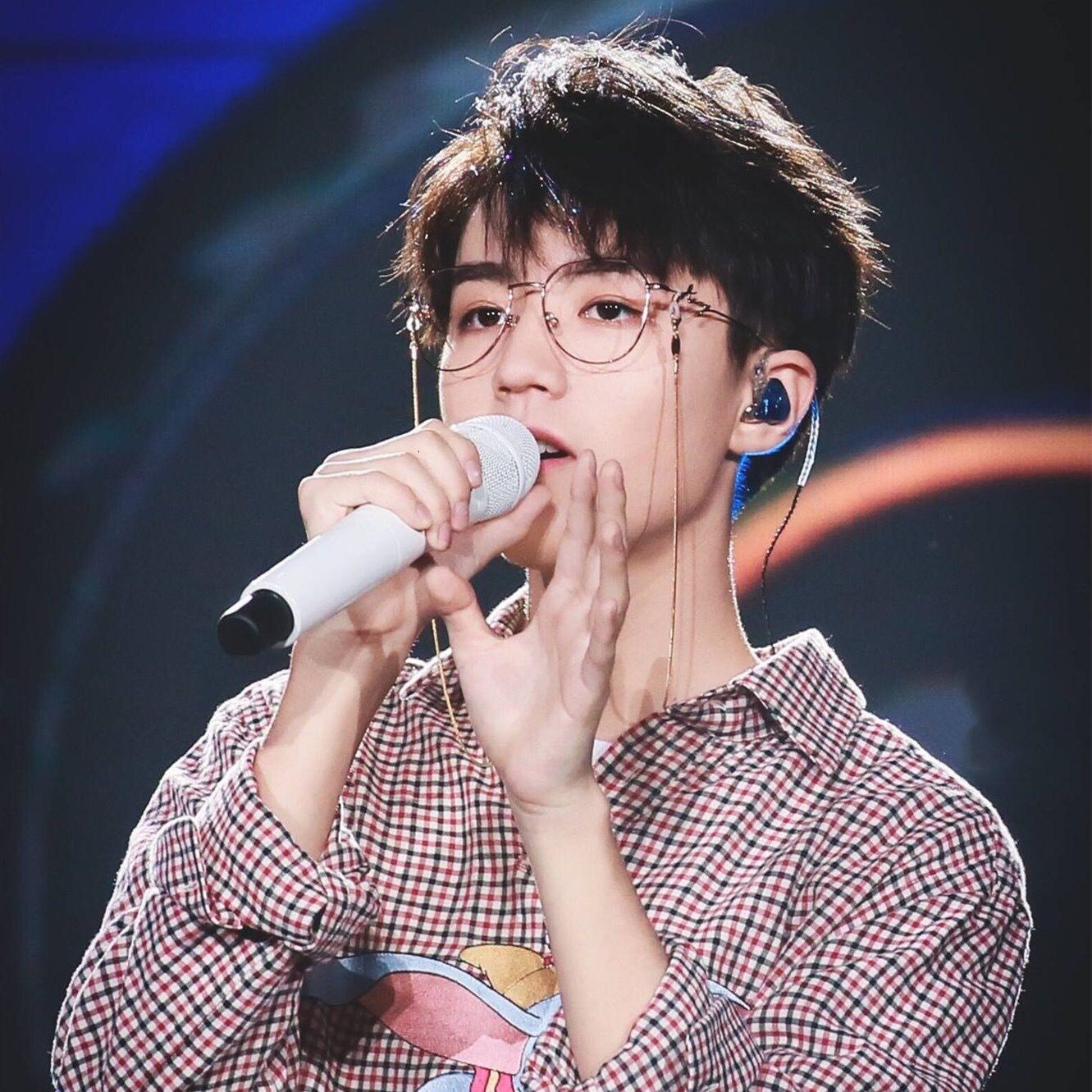 Wang Junkai Similar Glasses Student Myopia Glasses with Chain Men's and Women's Korean-Style round Face Retro Polygonal Flat Mirror U37g