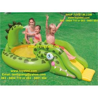 Bể bơi phao cầu trượt khủng long INTEX 57132