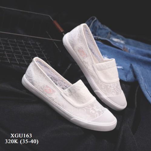XGU163 Giày nữ lưới ren phong cách Hàn Quốc