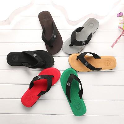 Men's Casual Slippers Beach Sandals Flats Outdoor Flip Flops