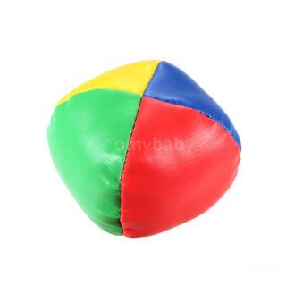 OMYBABY 3Pcs Mini Juggling Ball Set Classic Bean Bag Pillow Balls Kids Soft Stress Relief Toy Gift