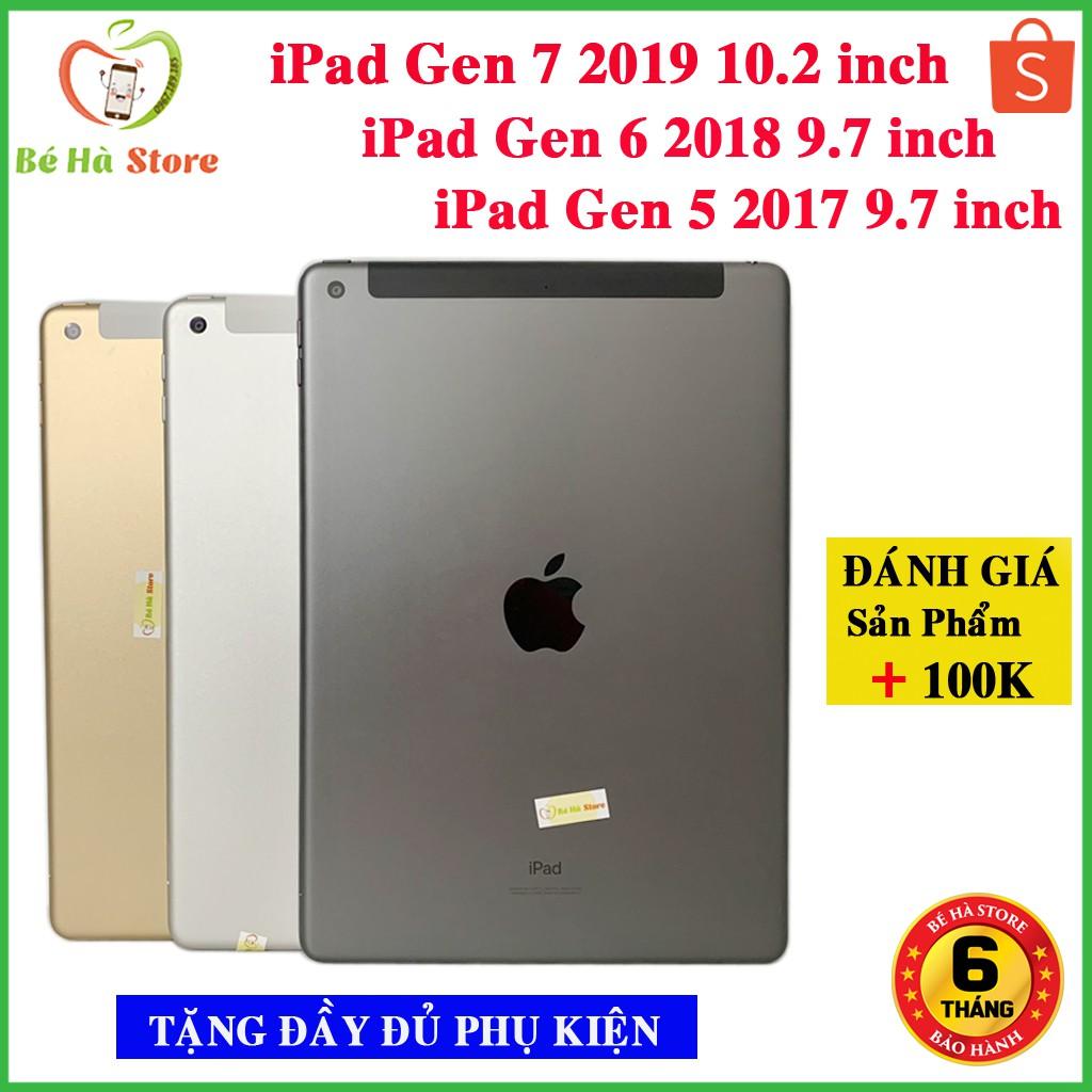 Máy Tính Bảng iPad 2019 / iPad 2018 / iPad 2017 (4G + Wifi) 32GB / 128GB Còn Bảo hành Chính hãng Like New [Tặng Ốp Lưng]