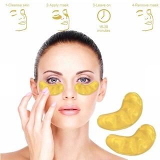 (Hàng Mới Về) Mặt Nạ Mắt Collagen Vàng Dưỡng Ẩm Loại Bỏ Quầng Thâm Và Nếp Nhăn