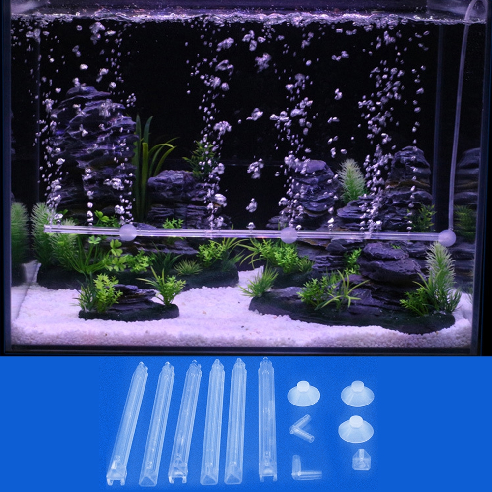 Release For Fish Tank Easy Apply Acrylic Detachable Transparent Professional Oxygen Increase Safe Bubble Bar