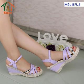 Sandal nữ [ KIỂM TRA HÀNG KHI NHẬN - NHẬP MÃ BACS ĐỂ ĐƯỢC GIÁM GIÁ 15K ] sandal đế xuồng cao 7cm