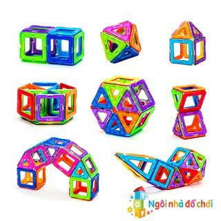 Bộ xếp hình 3D nam châm sáng tạo
