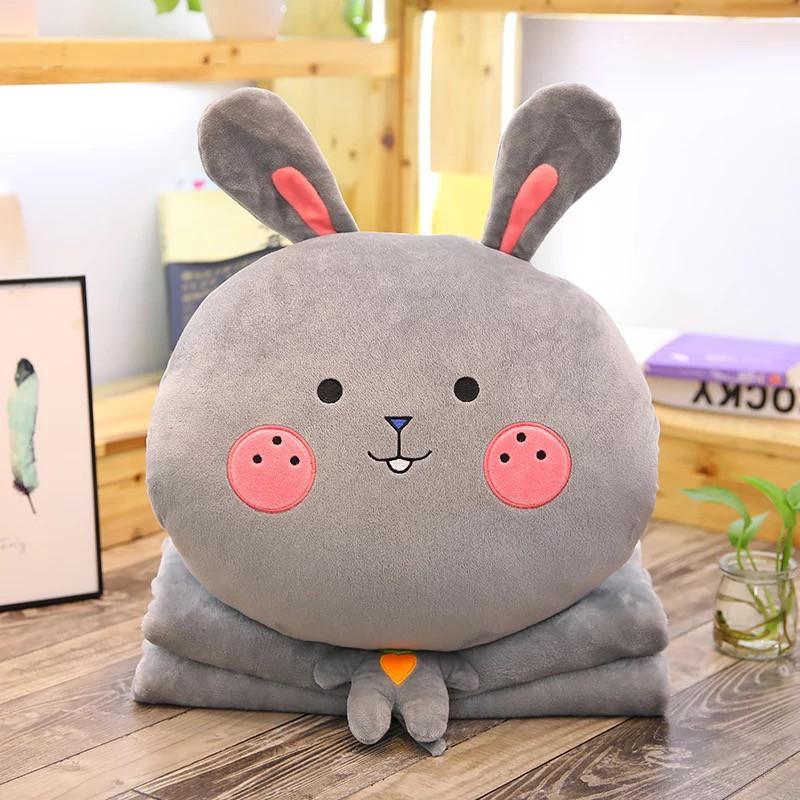 Bộ Chăn Gối Văn Phòng 3 trong 1 hình thỏ cute