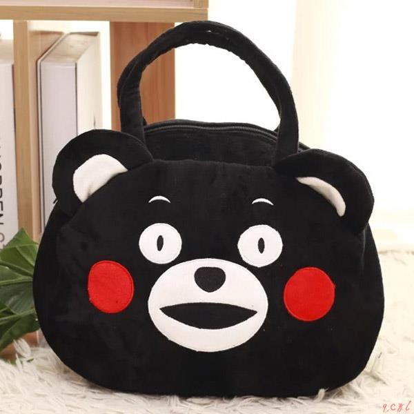 Cute cartoon Kumamoto black bear shoulder bag big bag handba